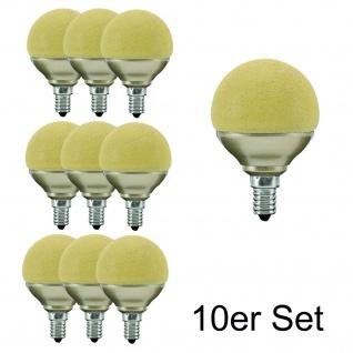 10x 28078.10 Paulmann E14 Fassung LED Miniglobe 60 1x2, 3W Eiskristall Bernstein