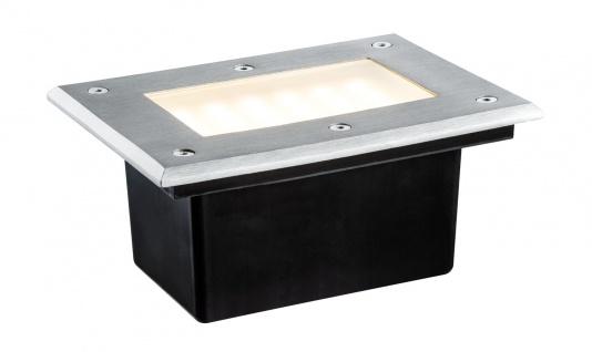 Paulmann 937.96 Special Einbauleuchte Set Boden IP67 LED 2, 5W 2700K 230V 185x136mm Edelstahl/Metall