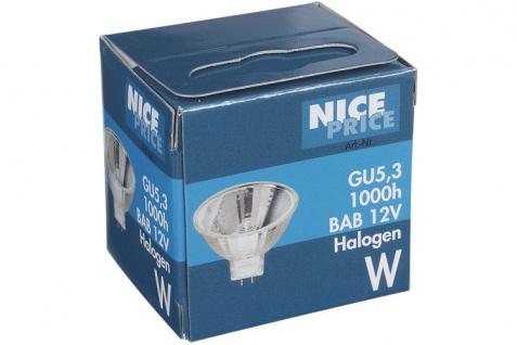 Nice Price Halogen KLR BAB flood 38° 20W GU5, 3 12V 51mm Silber