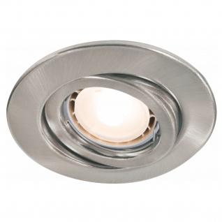 Paulmann Quality Einbauleuchte Set schwenkbar LED 3x3, 5W 230V GU10 51mm Eisen gebürstet/Stahlblech