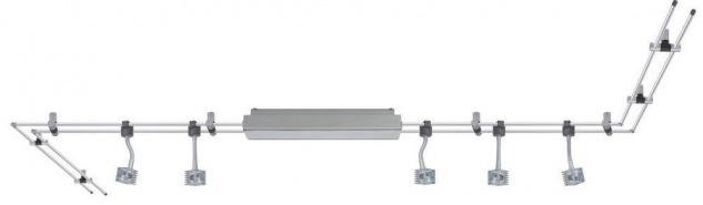 978.65 Paulmann LED Rail Schienensystem GEO Q-Flex Chrom matt 5x3W 12V Lampe