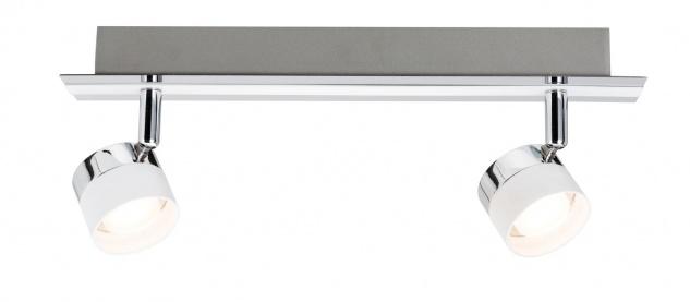 Paulmann 602.45 Spotlight Stage Balken 2x3W Weiß Chrom 230V Metall