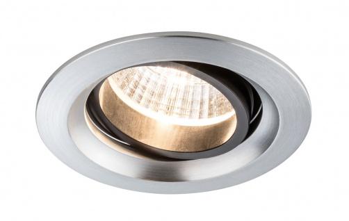 Paulmann 926.77 Premium Einbauleuchte Set Daz schwenkbar LED 2x7W 18VA 230V/700mA 110mm Alu gebürstet/Alu