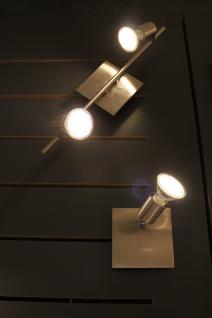 GU10 LED Wand- Deckenleuchte Eisengebürstet 230V warmweiß 3W