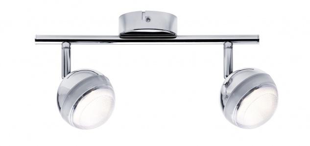 Paulmann 603.60 Spotlight Scoop LED 2x4, 6W Chrom 230V Kunststoff