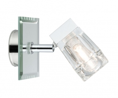 Paulmann WallCeiling Trabani IP44 20W G9 Chrom/Transparent 230V Metall/Glas