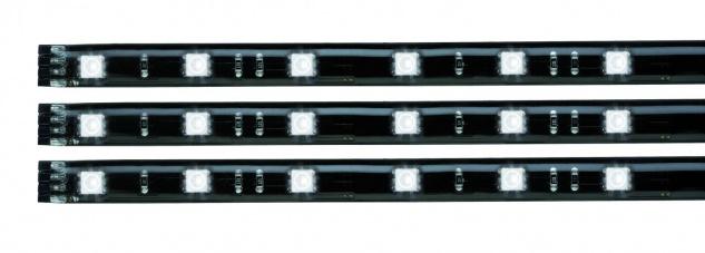Function YourLED Strip Pack 3x97cm RGB 3x9, 36W 12V DC Schwarz Kunststoff