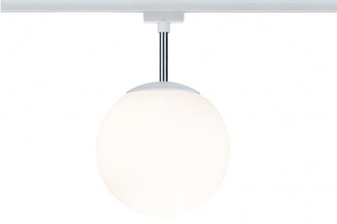 Paulmann URail Ceiling Globe Small max. 1x10W E14 Weiß/Opal 230V Metall/Glas dimmbar
