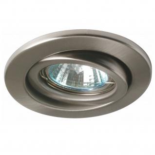 Nice Price 3601 Basic Einbauleuchte schwenkbar max.50W 230V GU10 51mm Eisen gebürstet/Metall
