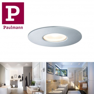 Paulmann Aussenleuchte oder für badezimmer Duschkabine House Einbauleuchte IP44 ( 600lm 3000K ) oder ( 660lm 4000K ) 5, 3W 230V 55° Silber Metall Acryl