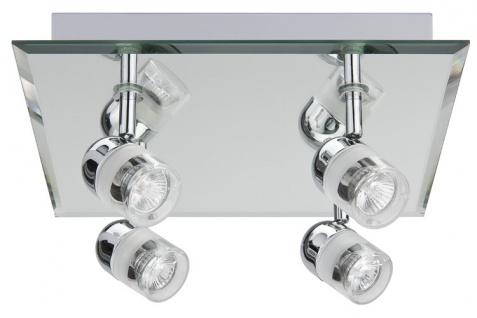 Paulmann WallCeiling Palinero IP23 max.4x20W GU4 Chrom 230V/12V Metall/Glas