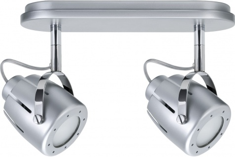 Paulmann 600.42 Spotlights Mega Balken max. 2x50W GU10 Chrom matt 230V Metall