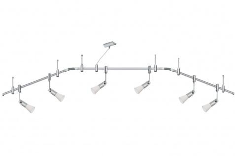 Paulmann Schienensystem Phantom Set Phari 6x40W G9 Titan/Opal 230V Metall/Kunststoff/Glas