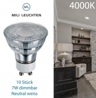MILI Leuchtmittel 10er Set GU10 7W 4000K 520lm dimmbar neutral weiss 6406.10 LED - Vorschau 1
