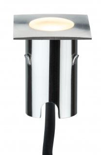 Paulmann 937.85 Special MiniPlus Boden Einbauleuchte eckig IP67 Ergänzungsset 4x0, 7W 2700K 43x43mm Edelstahl