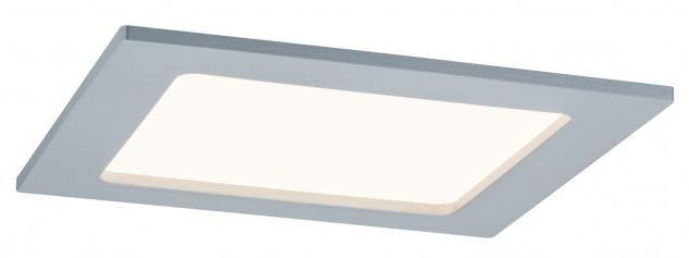 TIP Einbauleuchte Set Panel eckig LED 1x12W 230V 3000K 165x165mm Chrom matt/Kunststoff