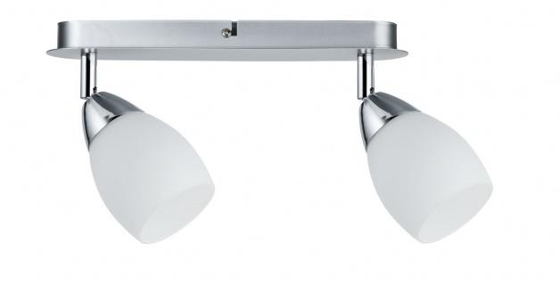 Paulmann 666.83 Spotlight WolbalLED max 2x10W GU10 Chrom matt/Opal 230V Metall/Glas