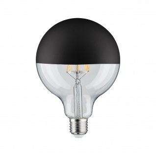 Paulmann LED Globe 125 5W E27 230V Kopfspiegel Schwarz matt 2700K dimmbar