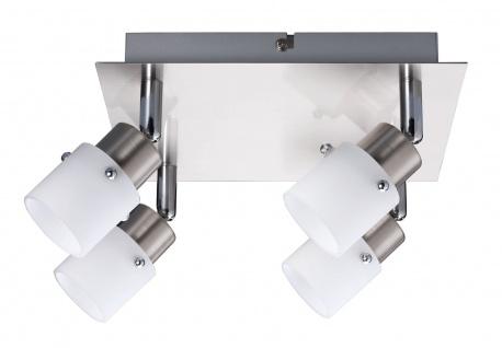 Nice Price Deckenleuchten 66482.LED Nice Price Spotlights Rondell 4x3, 5W G9 LED 3000K 320L warmweiß G9 Eisen gebürstet/Opal 230V Metall/Glas