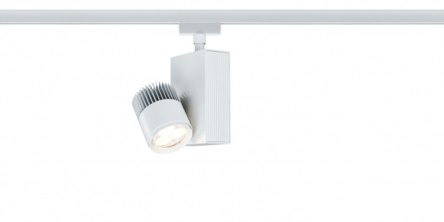 Paulmann 951.63 URail Schienensystem Light&Easy Spot TecLed 1x9W Weiß 230V Metall