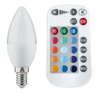 Paulmann 285.17 LED Kerze Farbwechsel 3, 5W E14 30V mit Fernbedienung