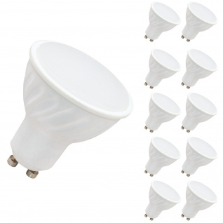 10x 7 W GU10 LED Leuchtmittel Neutralweiß 4000 Kelvin 520 Lumen