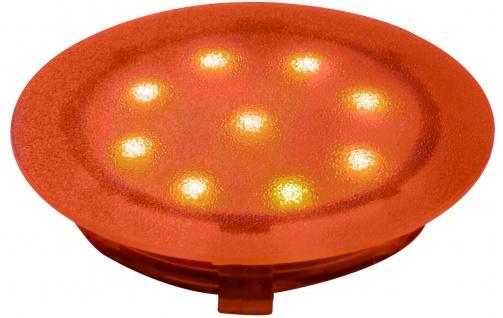 Paulmann 988.59 Special Einbauleuchte UpDownlight LED 1W 12V 45mm Amber/Kunststoff