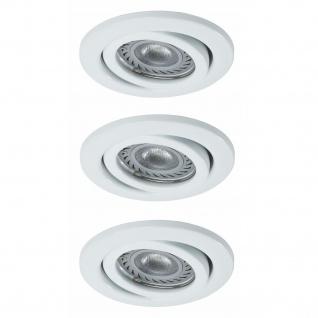 Nice Price 3323 Basic Einbauleuchte Set schwenkbar LED 3x3, 5W 230V GU10 51mm Weiß/Metall