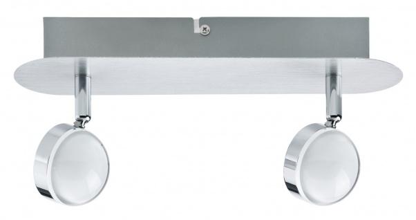 Paulmann Spotlight Hemisphere 2x4, 5W Alu gebürstet/Chrom 230V Metall/Acryl - Vorschau 2