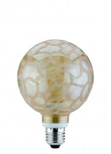 880.57.04 4er SetPaulmann Energiesparlampe Globe 100 10W E27 Krokoeis gold