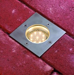 Paulmann Special Einbauleuchte Set Boden eckig LED 3x1, 2W 2700K 6VA 230/12V 100mm Edelstahl/Metall - Vorschau 3
