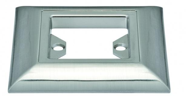 988.60 Paulmann Einbauleuchten Zubehör Profi Aufbauring eckig UpDownlight Quadro LED 80mm Eisen gebürstet/Alu