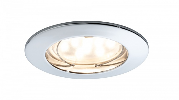 Premium EBL Set Coin klar rund starr LED 3x6, 8W 2700K 230V 51mm Chr/Alu Zink