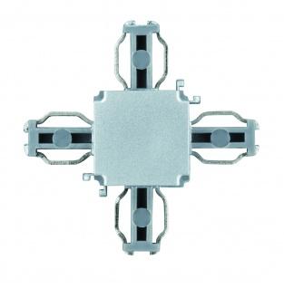 Paulmann 950.54 ULine System L+E X-Verbinder Chrom matt Kunststoff