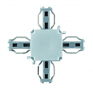 Paulmann ULine System L+E X-Verbinder Chrom matt Kunststoff