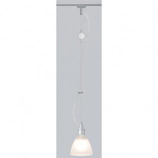 Paulmann Schienensystem Light&Easy URail Pendel Phil max. 1x40W G9 Chrom matt/Satin 230V Metall/Glas