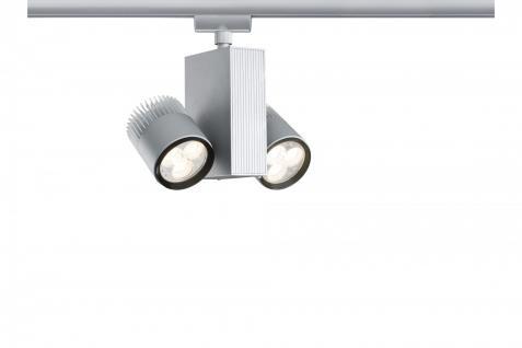 951.16 Paulmann U-Rail Einzelteile URail System Light&Easy Spot TecLed 2x9W Chrom matt 230V Metall