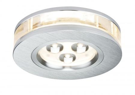 Premium EBL Set Liro rund LED 3x3W 350mA 9VA 90mm Alu geb./Klar