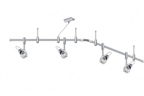Paulmann 976.20 Schienensystem Phantom Set Ring Energiesparlampe 4x11W GU10 Titan 230V Metall