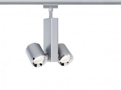 Paulmann 952.07 URail Schienensystems Spot TecLED II 2x6, 5W Chrom matt/Chrom 230V Metall