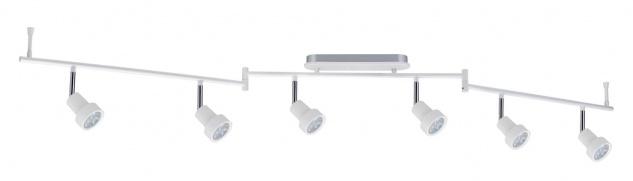 Paulmann 602.29 Spotlight Arioso Stange 6x3W Weiß matt 230V Metall