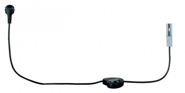 Paulmann URail Schienensystem Light&Easy Einspeisung mit Kabel chrom matt 230V Metall