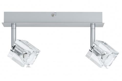 Paulmann 600.28 Spotlights IceCube Balken 2x35W GU4 Chrom matt 230/12V 60VA Metall/Glas