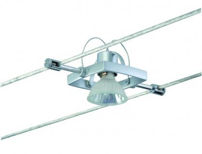 Paulmann 974.90 Wire System Light&Easy Spot Mac II 1x35W GU5, 3 Chrom matt 12V Metall