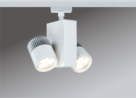 Paulmann 951.64 URail Schienensystem Light&Easy Spot TecLed 2x9W Weiß 230V Metall