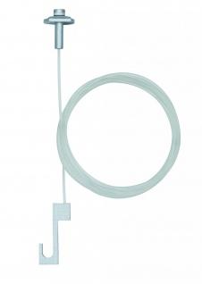 Paulmann 951.06 ULine System L&E Galeria Bild-Aufhängung 2er Pack Transparent Metall/Kunststoff