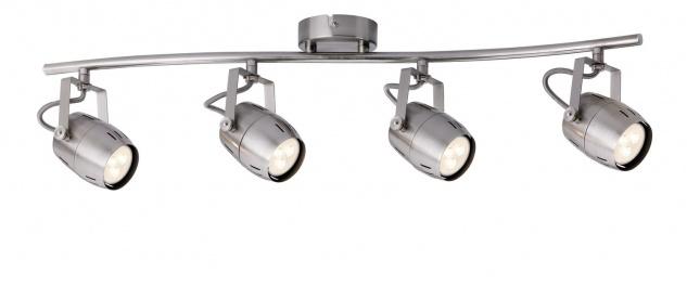 Paulmann 602.88 Spotlight Gamma LED 4x3, 5W GU10 230V Nickel gebürstet Metall
