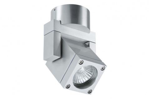 Paulmann 701.64 WallCeiling Cubi1 WL max.35W GU10 IP44 Alu gebürstet/Klar 230V Alu/Glas