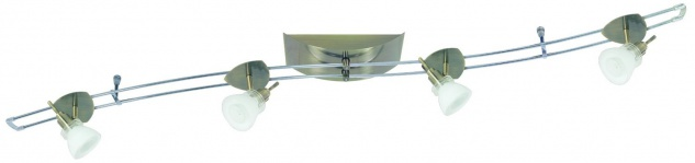 Paulmann Schienensystem Hip Verbier 150 4x35W GU4 Altmessing/Opal 230/12V 150VA Metall/Glas