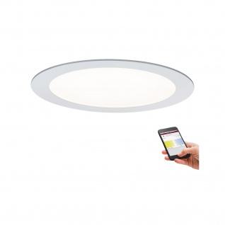 Paulmann Premium Einbauleuchte Set SmartPanel tunW rund LED 1x13, 5W 15VA 230V/350mA 220mm Weiß matt/